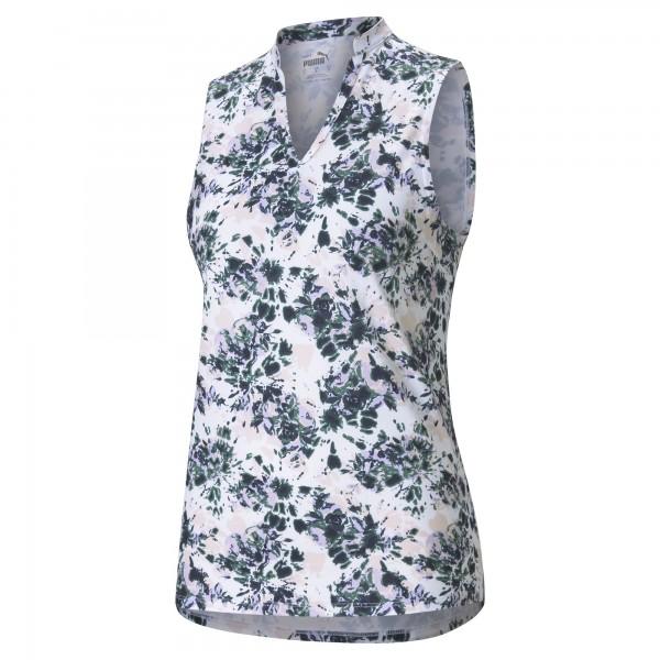Puma Cloudspun Floral Tie Dye SL Polo Damen