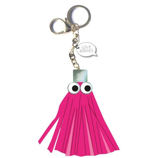 Girls Golf Hot Pink Puschel Schlüsselanhänger Damen