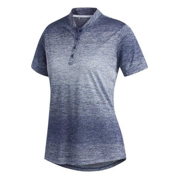 adidas Gradient Short Sleeve Polo Damen blau