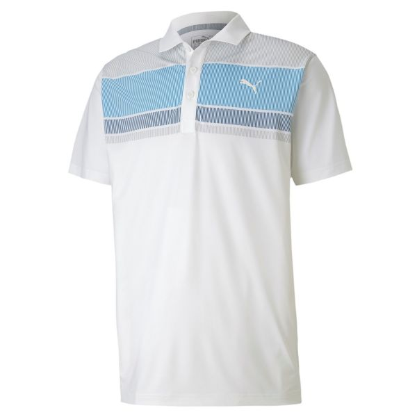 Puma Road Map Polo Herren weiß/hellblau