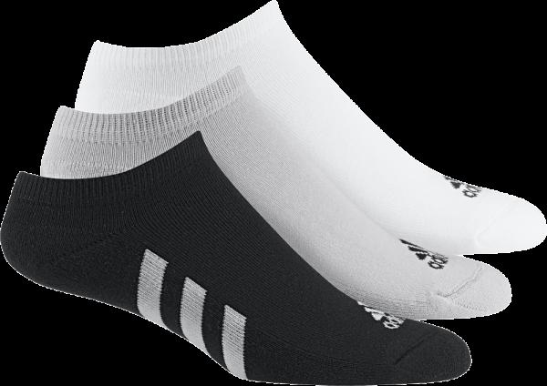 Adidas 3-pack noshow Socken Herren schwarz/grau/weiß