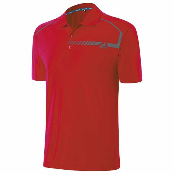 Adidas climachill Chest Print Polo Herren rot
