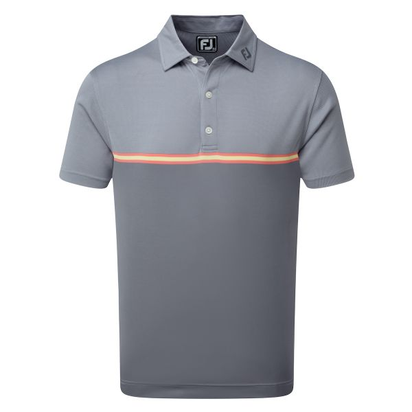Footjoy Jacquard Top Colour Block Polo Herren grau