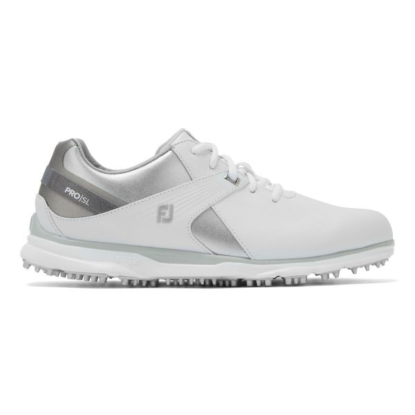Footjoy PRO SL Golfschuh Damen weiß/silber