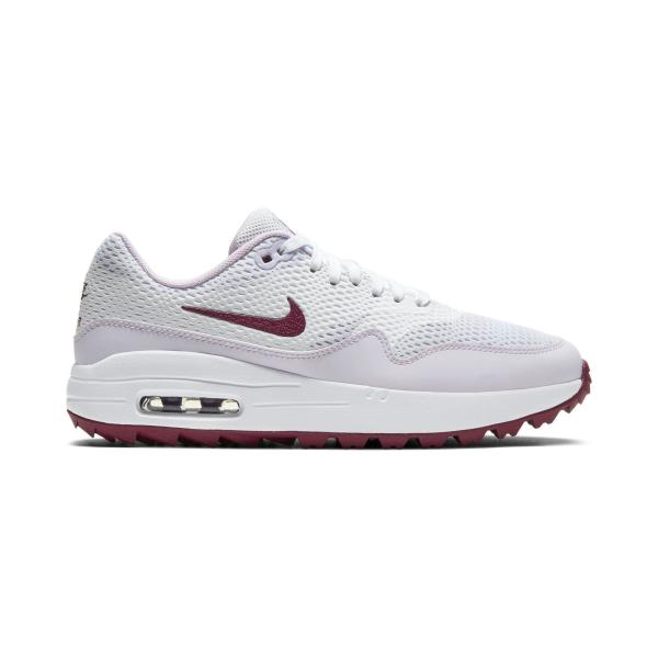 Nike Air Max 1G Textil Golfschuh Damen weiß/rot