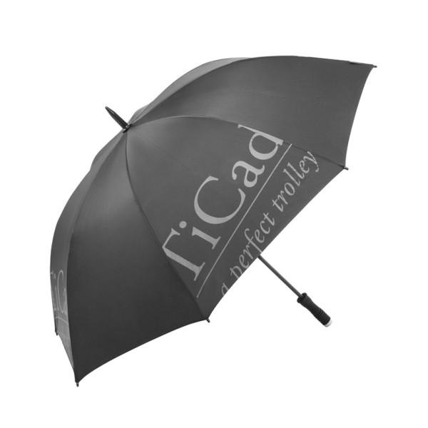 TiCad Regenschirm mit TiCad-Logo schwarz
