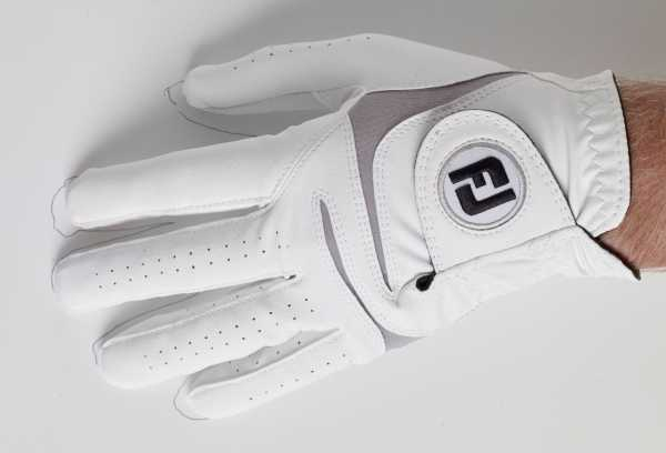Footjoy Weathersof Handschuh Herren weiß/grau