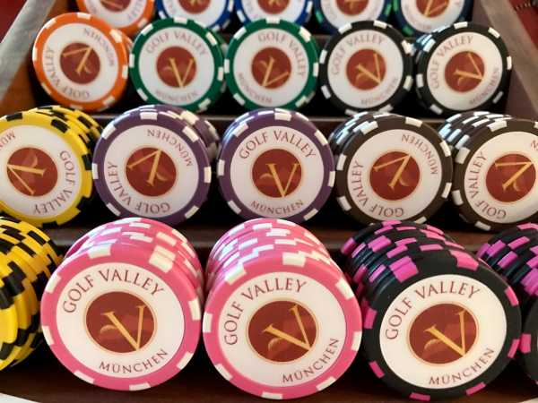 Poker Chip als Ballmarker mit Valley Logo