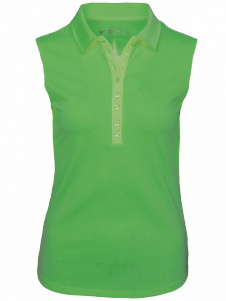 Girls Golf Sylvia sleeveless Polo Damen grün