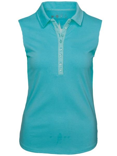 Girls Golf Sylvia sleeveless Polo Damen türkis