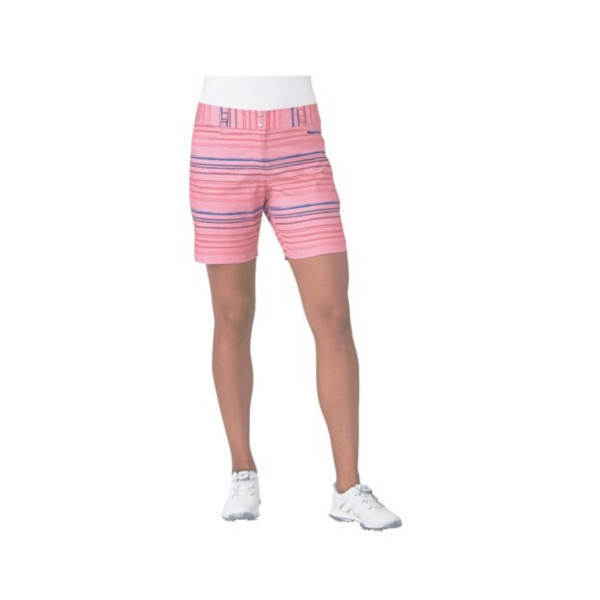 """adidas 7"""" Printed Stripe Golf Short Damen pink"""