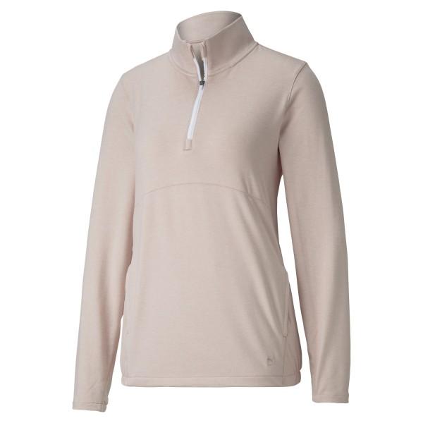 Puma 1/4 Zip Crossing Pullover Damen peachskinheather