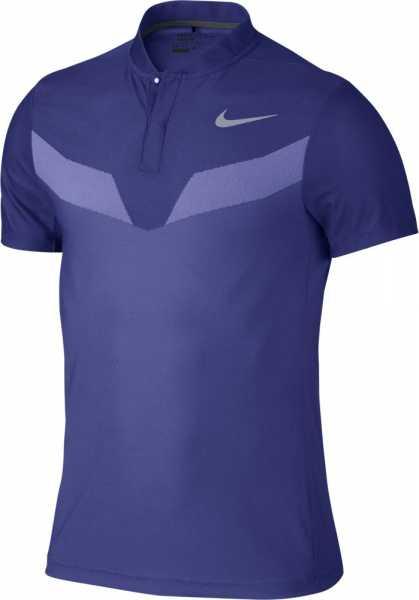 Nike Men's Zonal Cooling MM Fly Blade Golf Polo dunkelblau