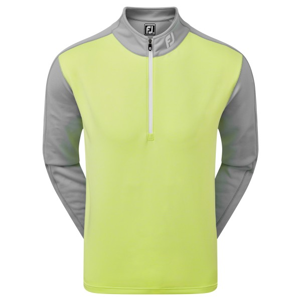 Footjoy Heather Color Block Chill-Out Pullover Herren lime/grau