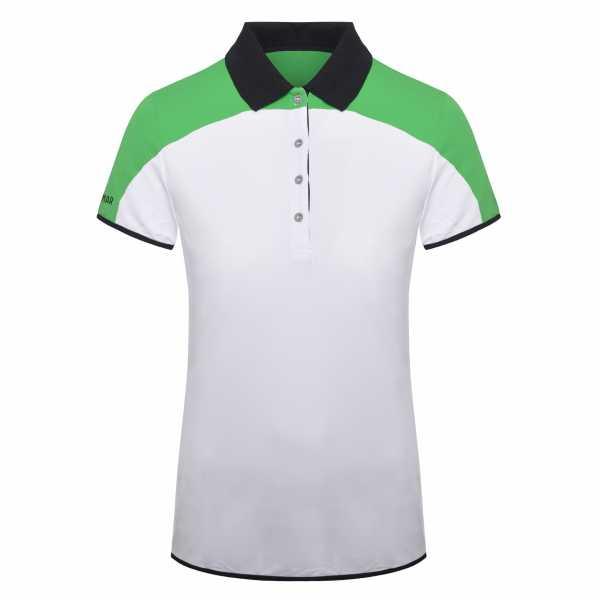 Colmar Solid Polo Damen weiß/grün