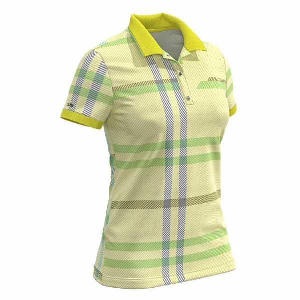 Colmar Solid Color Polo Damen gelb/grün