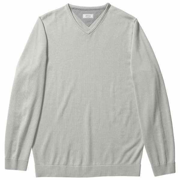 adidas Adipure Merino Plaited Pima V-Neck Sweater Herren hellgrau