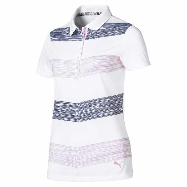 Puma Race Day Polo Damen blau/pink/weiß