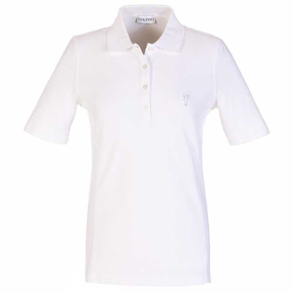 Golfino Kurzarm Damen Poloshirt mit Sonnenschutz weiß
