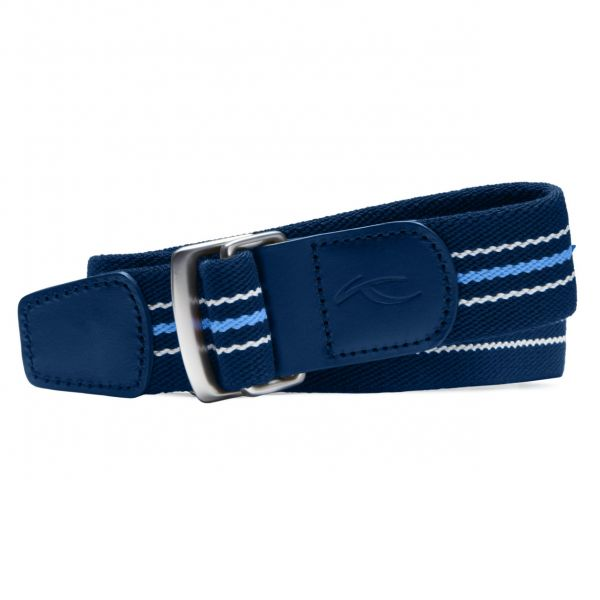 KJUS D-Ring Stripe Gürtel Herren blau/weiß