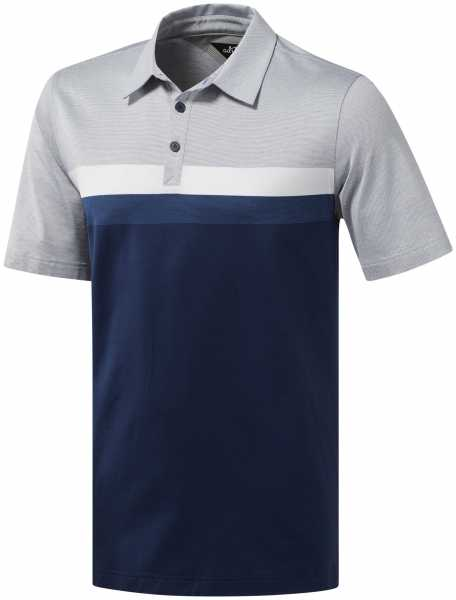 adidas Adipure Premium Engineered Polo Herren navy grau