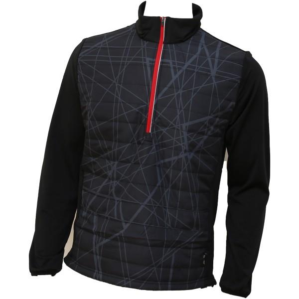 Abacus Troon Hybrid 1/2-Zip Pullover Herren schwarz