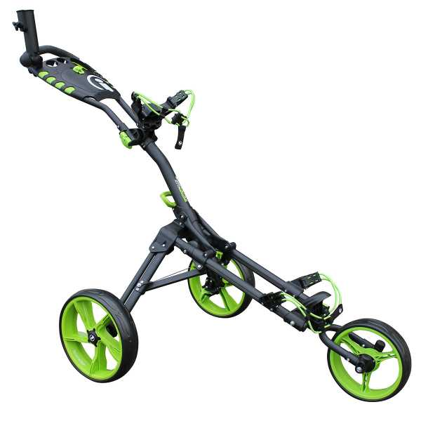 iCart one Compact 3 Wheel One Click Push Trolley