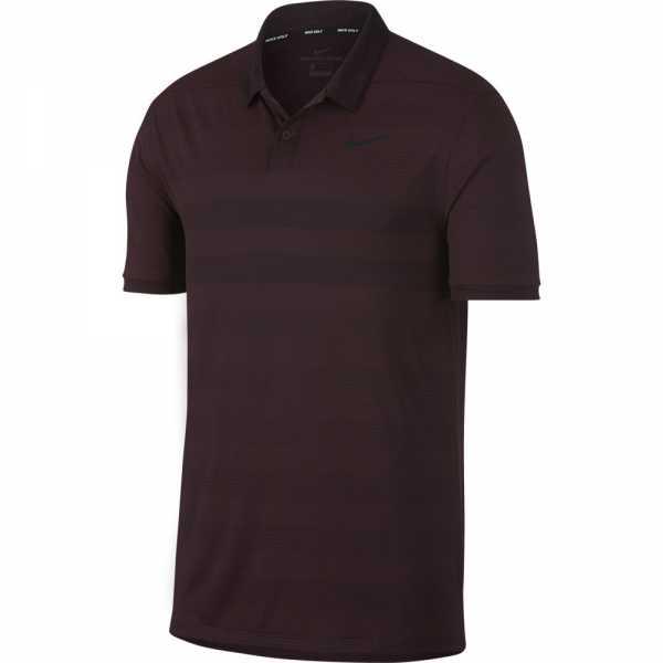 Nike Zonal Cooling Golf Polo Herren burgundrot/schwarz