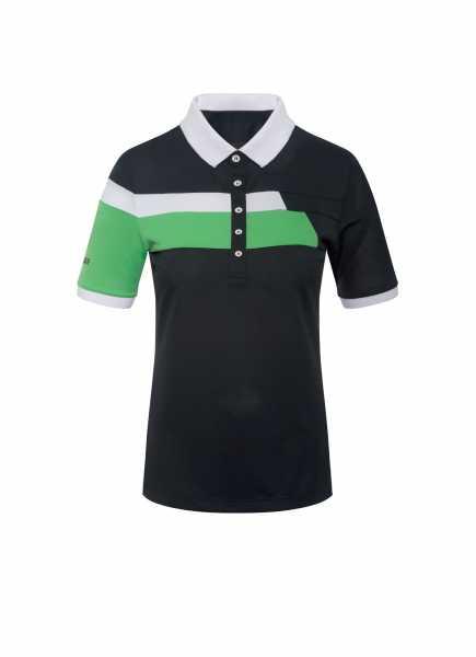 Colmar Solid Polo Damen schwarz/grün