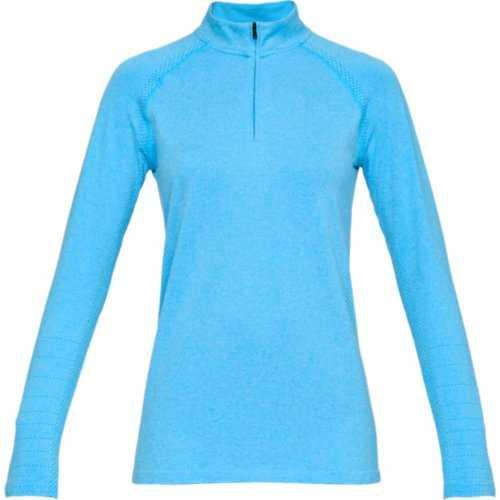 Under Armour Threadborne Seamless 1/4 Zip Pullover Damen hellblau