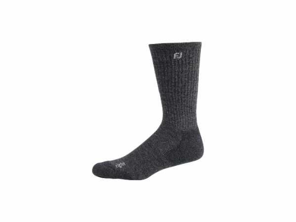 Footjoy TechSof Tour Crew 28 cm Socken Herren grau