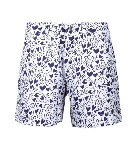 Girls Golf Hearts&Love Hot Pants Damen blau/weiß