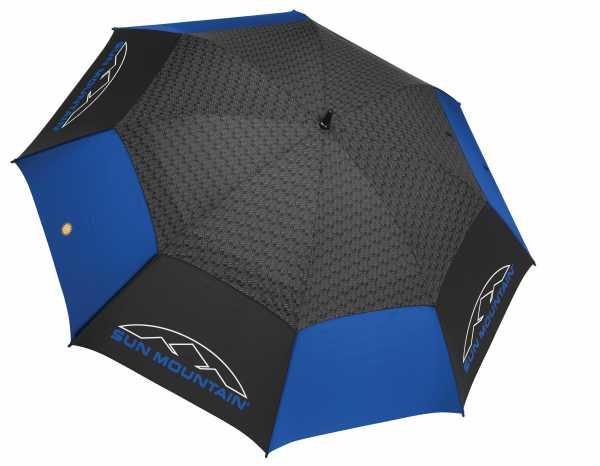 Sun Mountain H2NO Dual Canopy Golfschirm blau