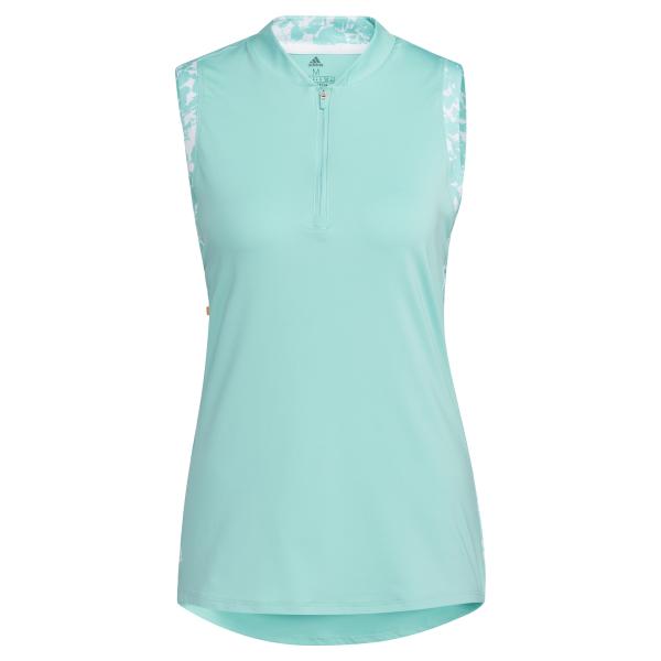 adidas Ultimate365 Printed sleeveless Polo Damen hellblau