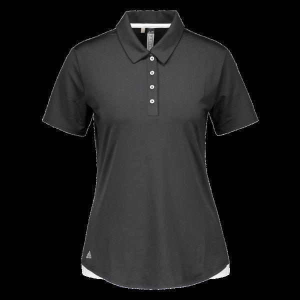 Adidas Essentials 3-Stripe Short Sleeve Polo Damen schwarz