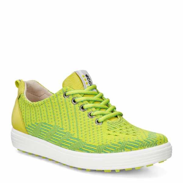 Ecco Casual Hybrid Damen Golfschuh - grün/gelb
