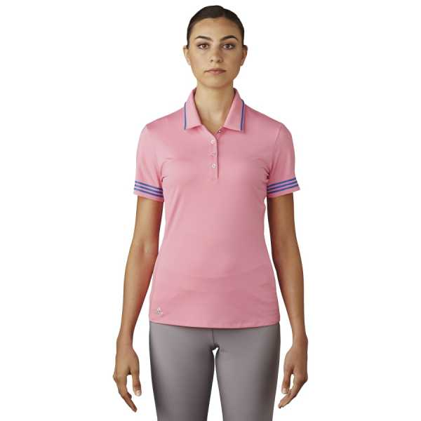 Adidas 3-Stripes Tipped Polo Damen pink