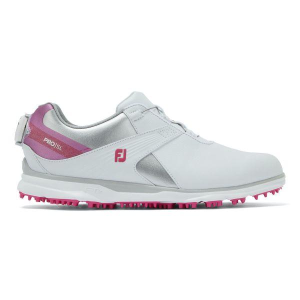 Footjoy PRO SL BOA Golfschuh Damen weiß/silber