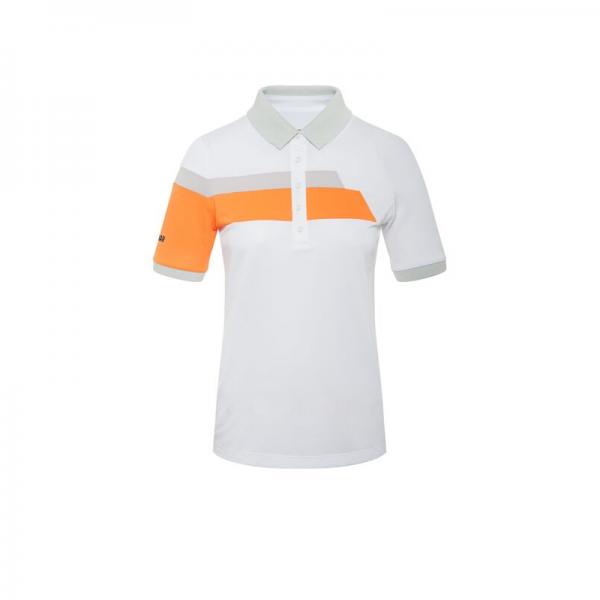 Colmar Solid Polo Damen weiß/orange