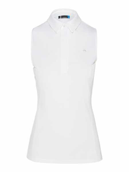 J. Lindeberg Dena TX Jersey sleeveless Polo Damen weiß