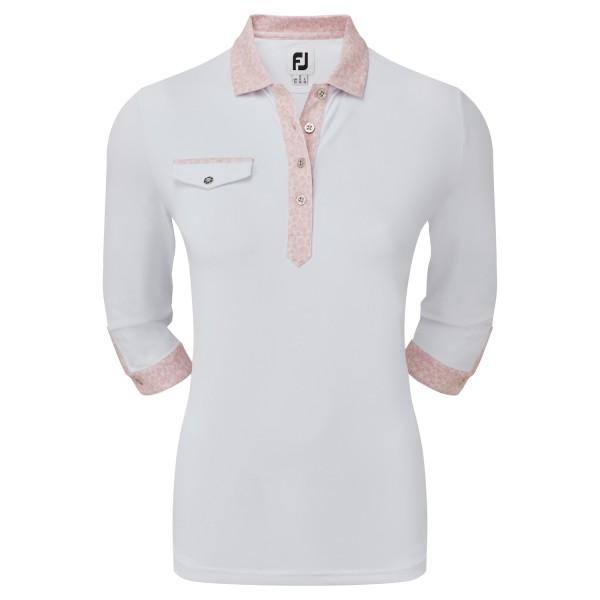 Footjoy 3/4 Sleeve Pique Polo Damen weiß