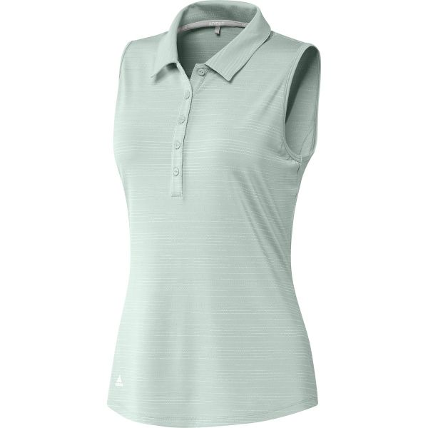 adidas Microdot Sleeveless Polo Damen grün