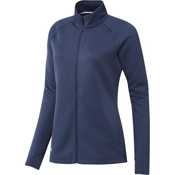 adidas Texture Full-Zip Jacke Damen blau