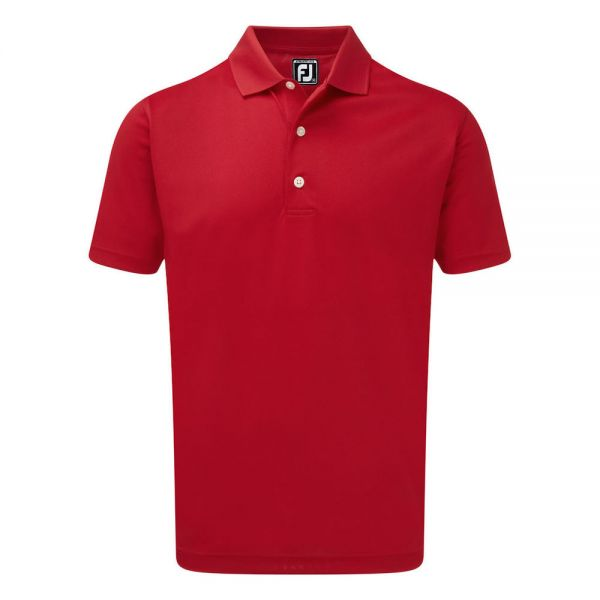 Footjoy Stretch Pique Solid Rib Knit Collar Polo Herren rot