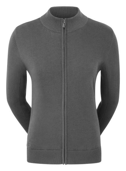 Footjoy Full-Zip Lined Wool Blend Pullover Damen grau