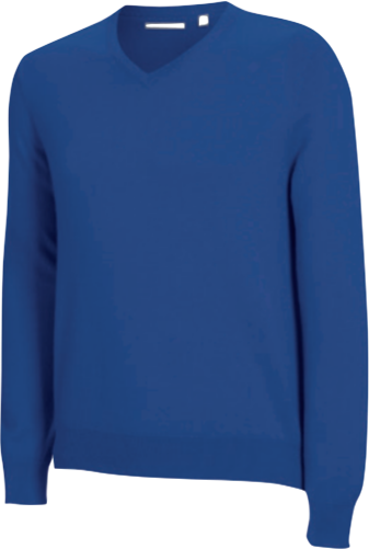 Ashworth Merino Long Sleeved V-Neck Sweater blau