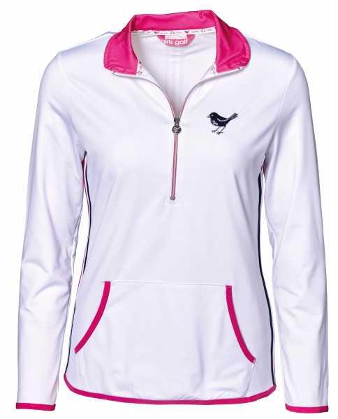 c312ef1dfcac88 Girls Golf techy sweater white pocket Pullover Damen weiß jetzt ...