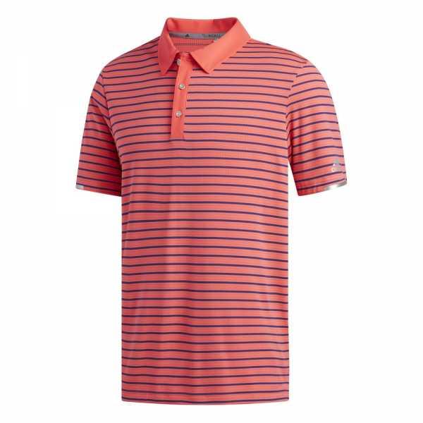 Adidas Climachill Three Color Stripe Polo Herren rotmarine blau