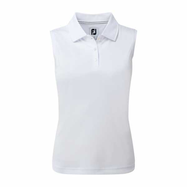 Footjoy Interlock Polo Damen sleevless weiß
