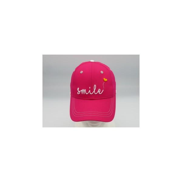 Girls Golf Pink Smile Cap Damen